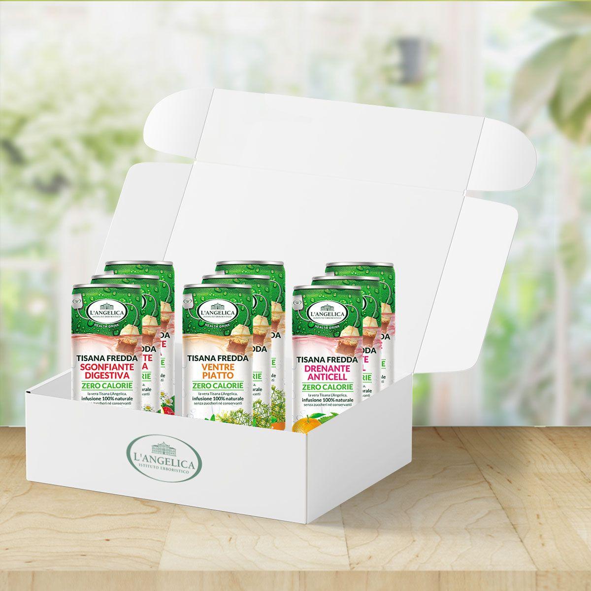 Box tisane fredde in lattina