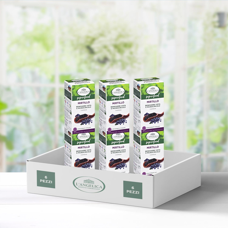 Multipack 6 pezzi Integratore Superfood Mirtillo -30%