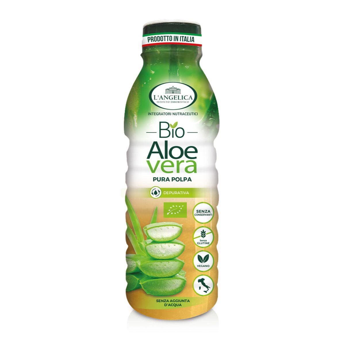 Aloe Vera Bio in Succo e Polpa - Integratore