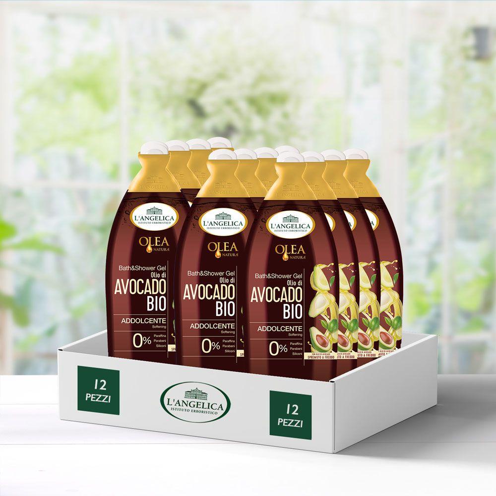 Multipack 12 pezzi Bagnodoccia Addolcente Olio di Avocado Bio -25%