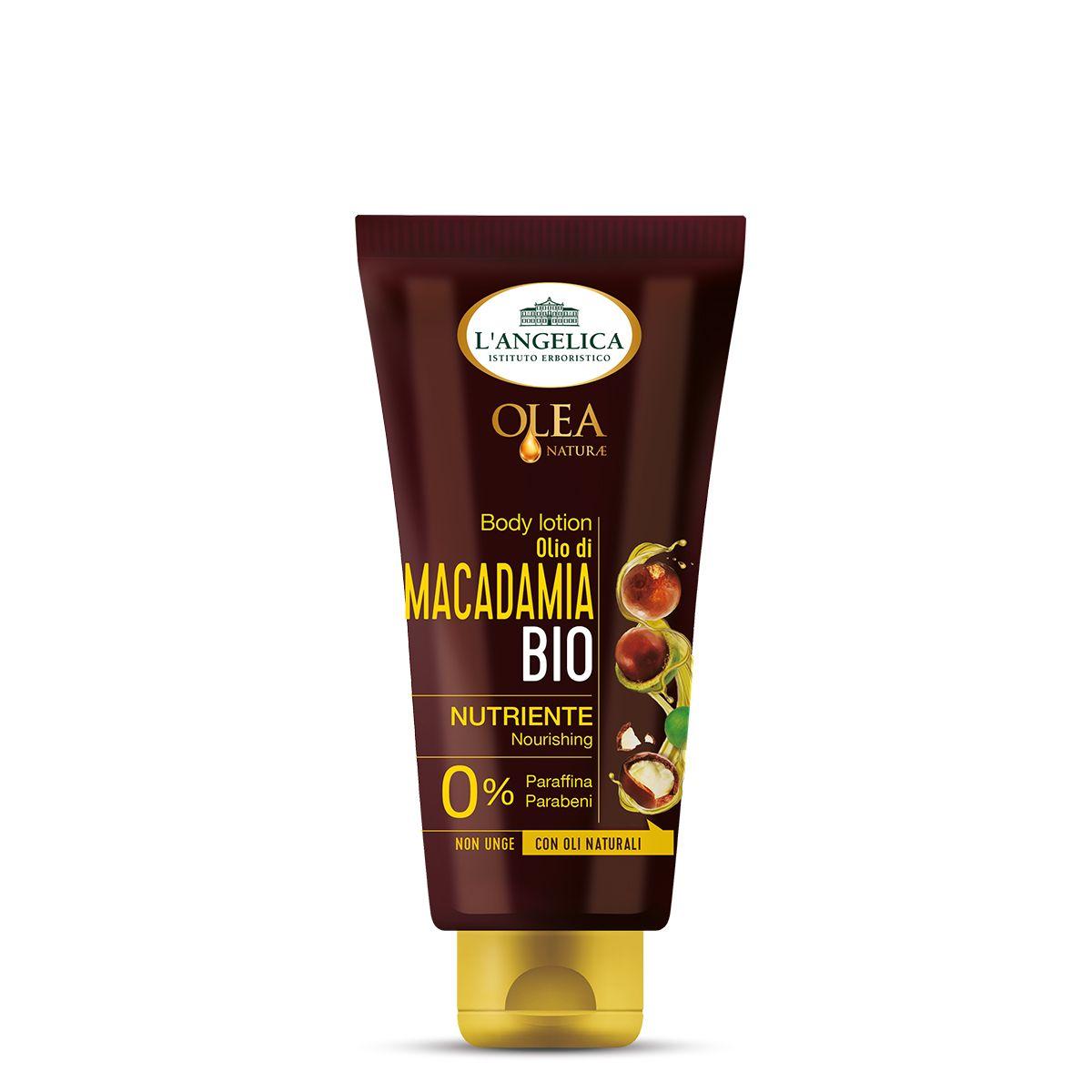 Body Lotion Nutriente con Olio Bio di Macadamia
