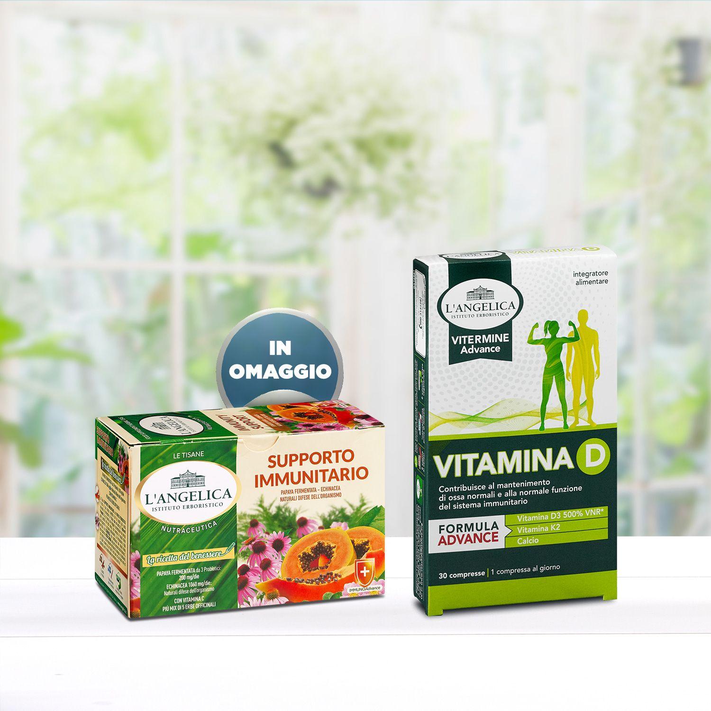 Pacchetto Vitamina D + Tisana Supporto Immunitario in Omaggio