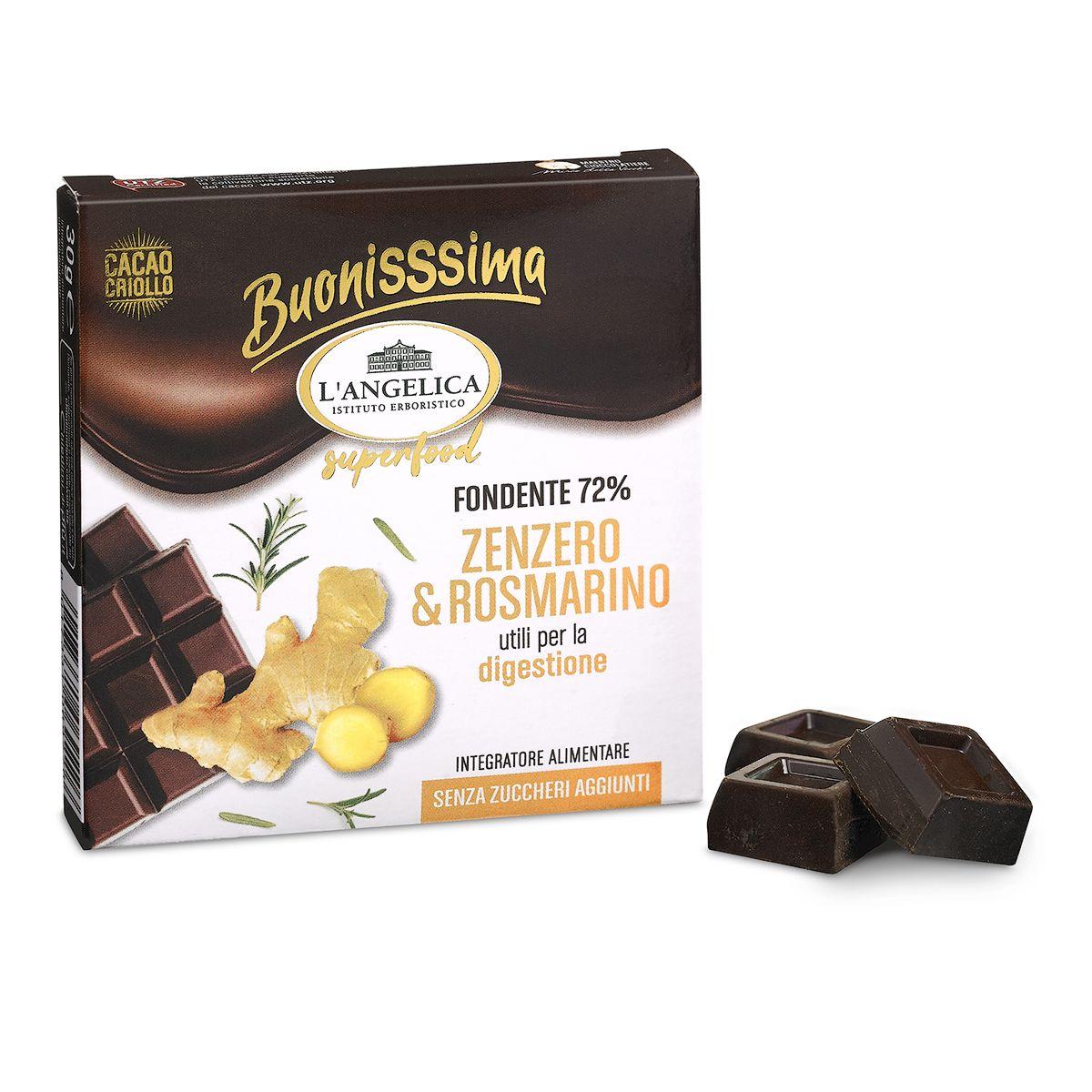 BuonisSsima Zenzero & Rosmarino - Tavoletta di Cioccolato