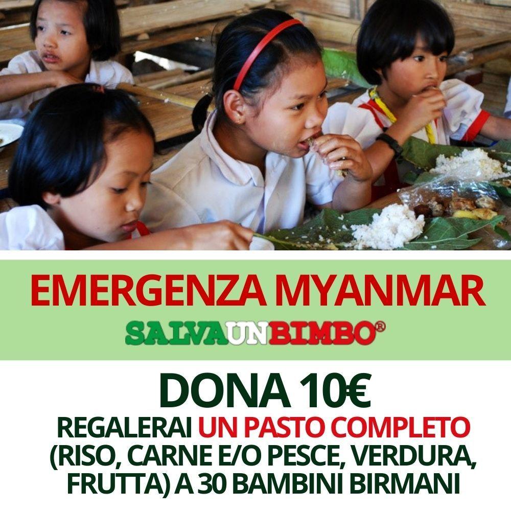 Dona 10€ - Emergenza Myanmar SALVAUNBIMBO®