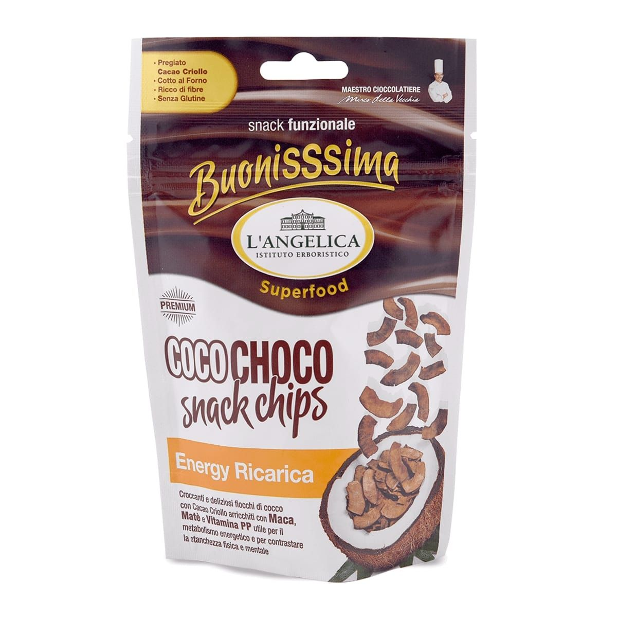 Coco Chips  Energy - Snack cocco e cacao