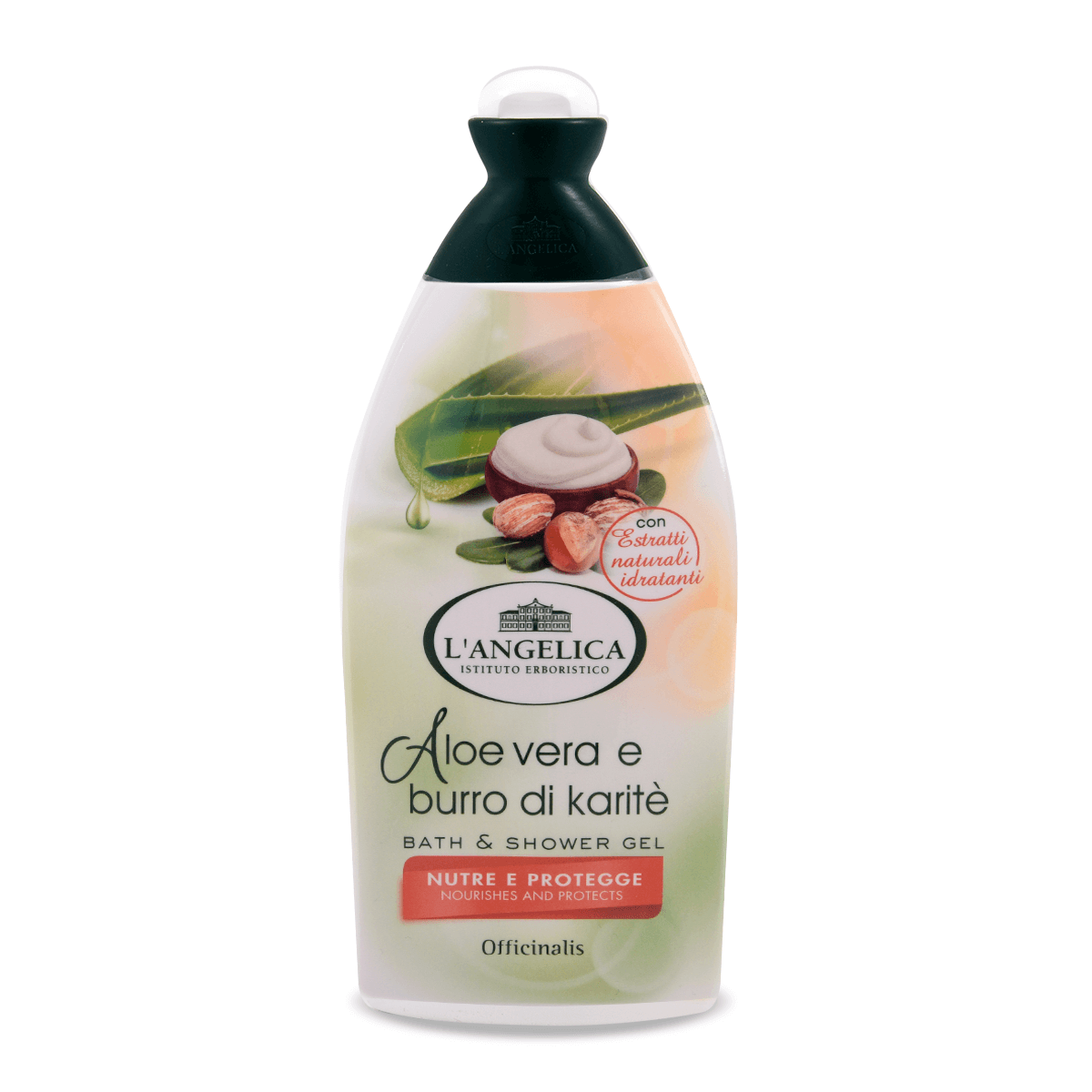 Bagnoschiuma all'Aloe Vera e Burro di Karitè