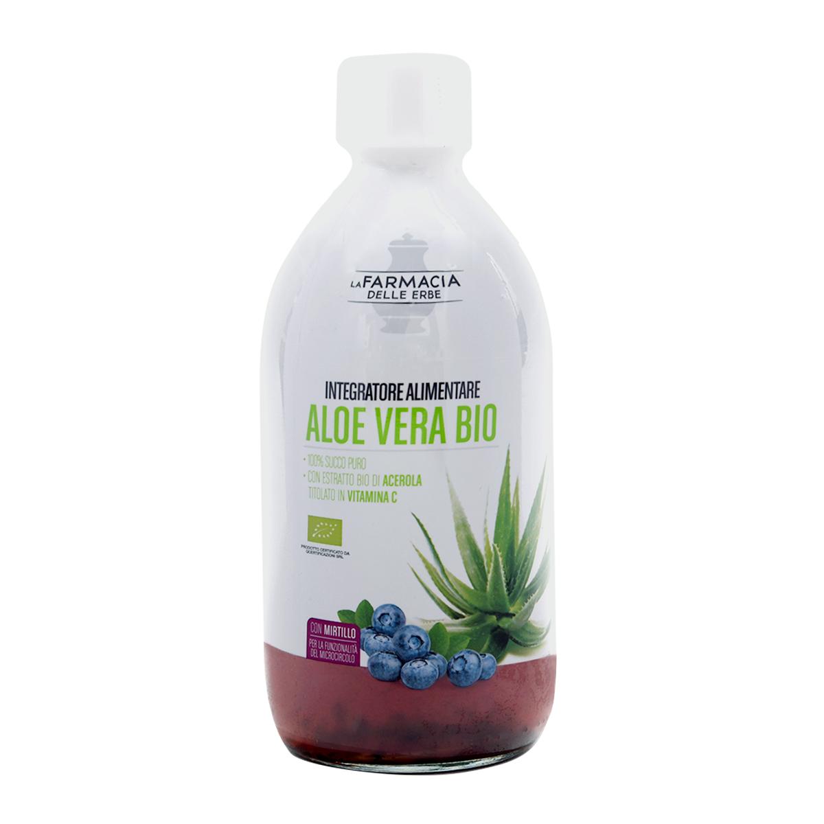 Aloe Vera Bio Succo puro con Mirtillo