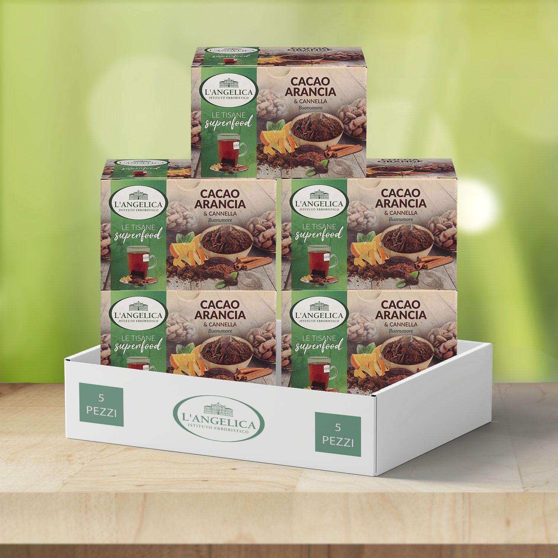 Box da 5pz Tisana Cacao, Arancia e Cannella -20%