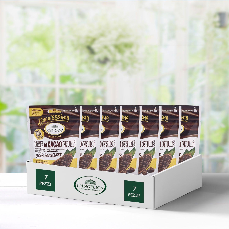 Box 7 Pezzi Fave di Cacao Crude 30gr -30%