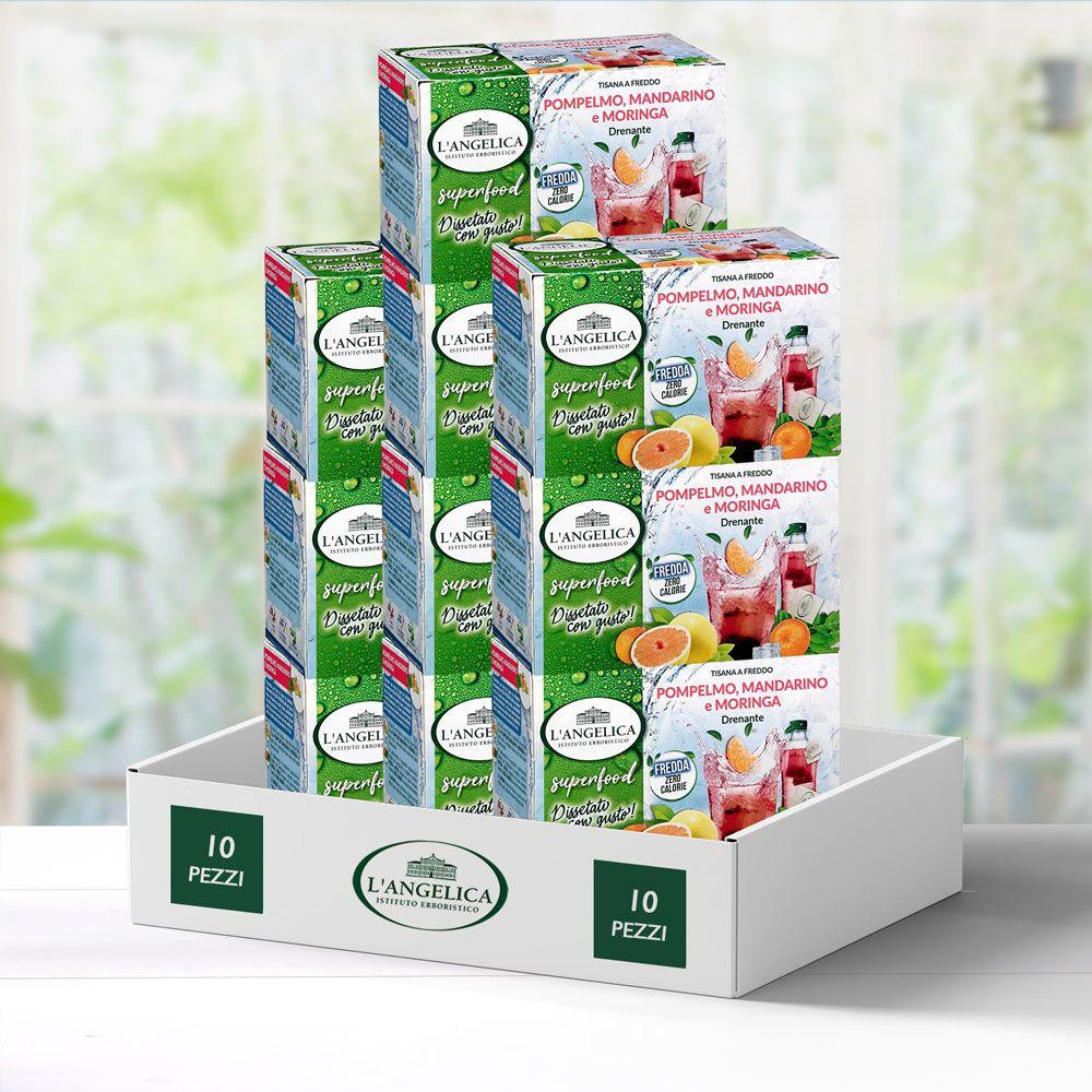 Multipack 10 pezzi Tisana a Freddo Superfood Pompelmo, Mandarino e Moringa -25%