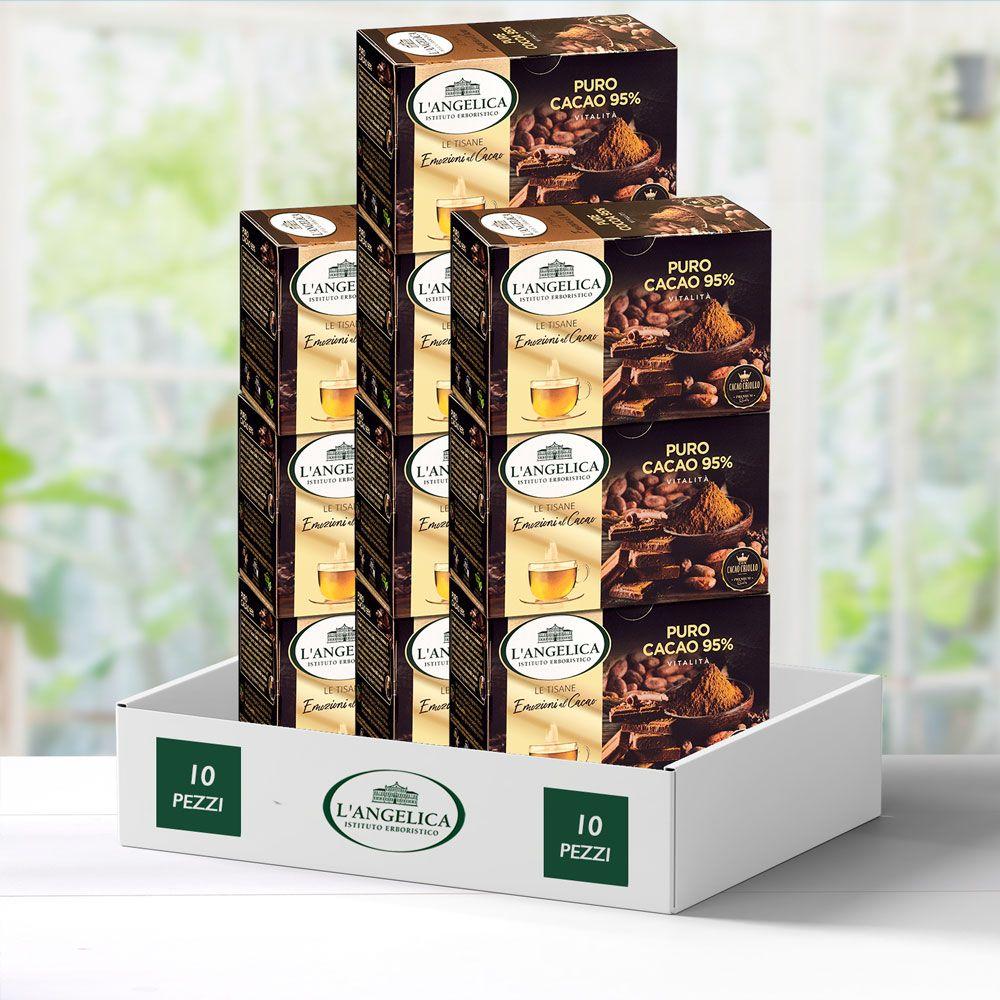 Multipack 10 pezzi Tisana puro cacao 95% -25%